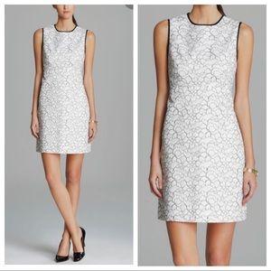 Kate spade white black lace Blakely sheath dress 00